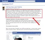 facebookのタイムライン機能。一般試用をニュージーランドから開始と発表。