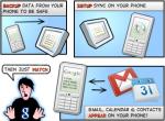 iphone:google sync でメール同期対応。 googleAppsも可